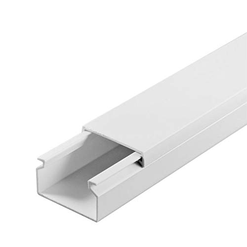 SCOS Smartcosat SCOSKK8 2 m Kabelkanal (L x B x H 1000 x 30 x 20 mm, PVC, Kabelleiste, Selbstklebend) weiß