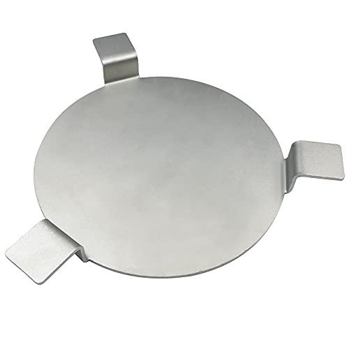 HOOMWELL Placa deflectora de calor de acero inoxidable se adapta a Gardenline Aldi y Lidl Mini Kamado de cerámica para ahumar barbacoa de huevo, para fumar a baja velocidad y cocinar indirecta