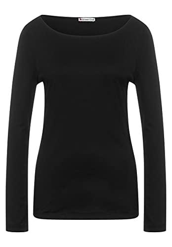 Street One - Shirt in Unifarbe in Black Größe 38