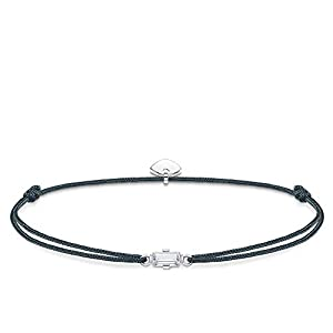 Thomas Sabo Damen-Armband Little Secret Weißer Stein Baguette-Schliff 925 Sterlingsilber LS0106-401-5-L20v