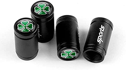 4 Piezas Tapas de Válvula de Neumáticos de Coche para Alfa Romeo Giulietta Spider Gt Giulia Mito 147, Anti Polvo Resistente Agua Tapas para Válvulas Decoración Accesorio