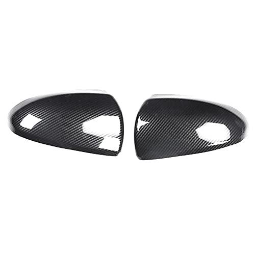 DFGSDRDY Accesorios de cáscara del Espejo del Espejo de la Cubierta del Espejo del Coche de la Fibra de Carbono, para Smart Fortwo 451 2008~2014