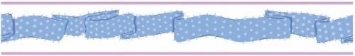 York Wallcoverings PW3990BD Girl Power 2 Ribbon Border, Bright Blue/Lavender
