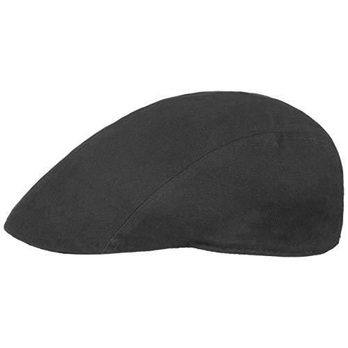 Lipodo Flatcap Schirmmütze Herren - Mütze in Einheitsgröße (55-60 cm) - Cap aus 100{5777b68c2462f79923d571ffbd1709731ede96288a269da4de1dbc3ec169c1ad} Baumwolle - Schiebermütze schwarz