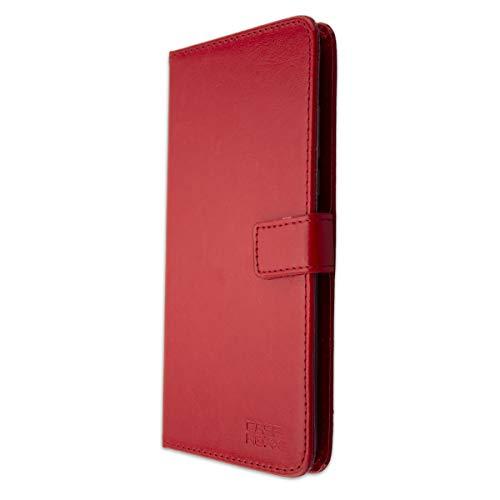 caseroxx Tasche für Cubot Max 2 Bookstyle-Hülle in rot Cover Buch