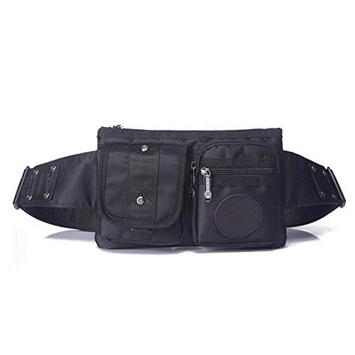 JINSEQ Hombres Durable Nylon Hombro Mensajero Fanny Cinturón Cintura Cadera Riñonera Militar Montar Viaje Sling Chest Pack