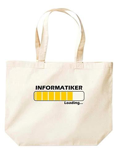 Shirtinstyle Stoffbeutel Jute, Loading Informatiker, Ausbildung Abschluss Job Kollegen, Spruch Sprüche Extra Große Tasche, Farbe Natur