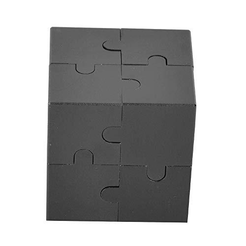 YOUTHINK Infinity Cube Fidget Toy Juguete del Cubo de Rubik Aluminio 3D Cubo Mágico Ensamblar Juguete Killing Time Fidget Toys para Niños Adultos Liberación de Stress y Ansiedad Por Estrés(Negro)