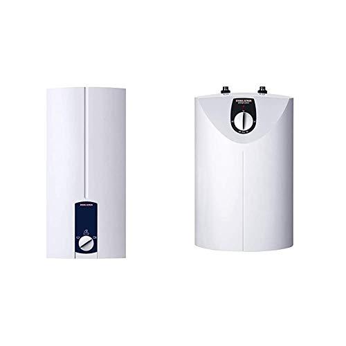 STIEBEL ELTRON elektronisch gesteuerter Durchlauferhitzer DHB 21 ST, 21 kW, druckfest, 3 Anwendungssymbole & druckloser Kleinspeicher SNU 5 SL, 2 kW, 5 l, Antitropf-Funktion, Thermostop-Funktion