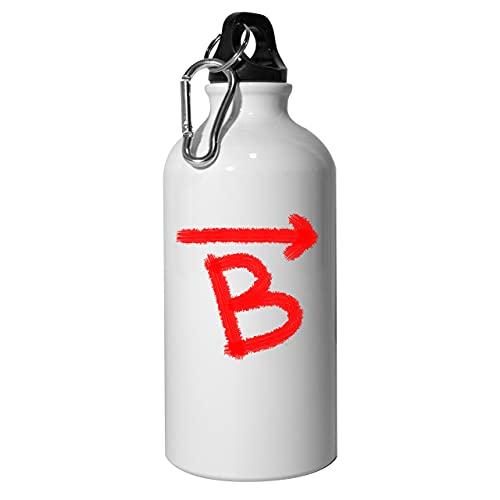 Rush B Bomb Site - Botella de agua de aluminio reutilizable para senderismo, color blanco 400 ml
