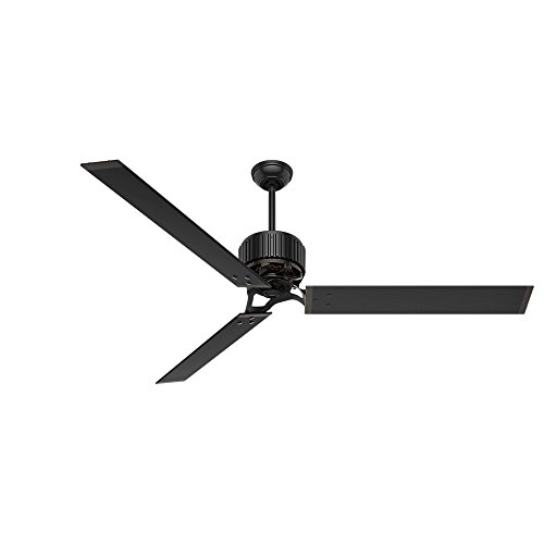 Hunter HFC-72 Industrial Indoor / Outdoor Ceiling Fan with Wall Control, 72', Brass