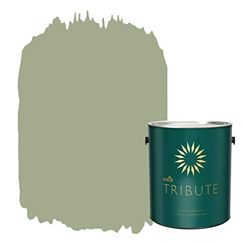 KILZ TRIBUTE Interior Matte Paint and Primer in One, 1 Gallon,...
