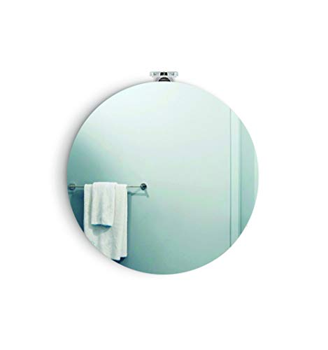 Espejo redondo DARA 574ø + Aplique led, luz brillante, potente y moderna, perfecto para el recibidor, habitación principal, pasillo casa. [Clase de eficiencia energética A++]. Certificado IP44.