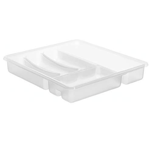 Rotho Basic Besteckkasten mit 6 Fächern, Kunststoff (PP) BPA-frei, transparent, (39,0 x 32,0 x 6,0 cm)