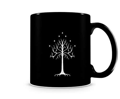 Caneca senhor dos anéis árvore de Gondor Preta