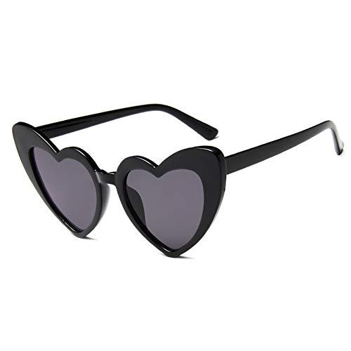 Aisoway Cuore da sole donne del progettista di marca Cat Eye Occhiali da sole Retro amore a forma di cuore Occhiali signore Shopping Occhiali da sole UV400