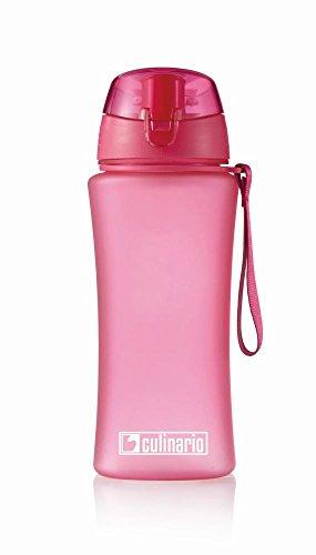 Culinario Trinkflasche ice'Y aus Kunststoff, 500 ml, in pink, mit Silikon-Dichtungsring, Schraubverschluss, Hängeschlaufe, geschmacksneutral