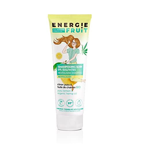 ENERGIE FRUIT   Shampoing sans Sulfate   Citron Yuzu & Chanvre BIO   Cheveux Ternes   Vegan   250 ml