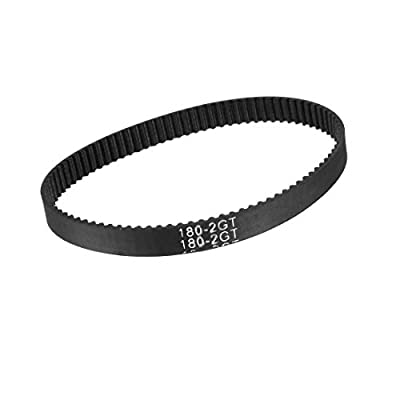 sourcing map GT2 Timing Belt 180mm Closed Fit Synchronous Wheel for 3D Printer