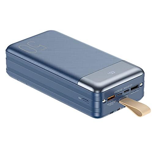 DNGDD Power Bank USB C 50000mah, [22.5W QC Type-c PD Carga rápida + 6 Salidas/4 Cables] Cargador portátil, batería Externa con Soporte para teléfono Power Banks Compatible con i-Phone, S-amsung,