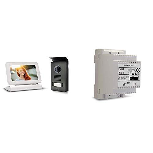 Extel - Visiophone sans fil couleur Lesli - Mémoire de passage photo et vidéo & 616012 T12Dc Transformateur 12 V