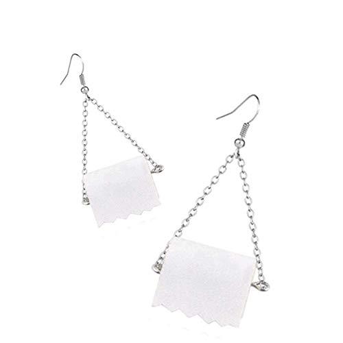 ZAILHWK Earrings,Toilet Paper Earrings Funny Toilet Paper Roll Earrings Fashion Jewelry,Funny Gift for Her