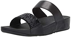 Black Sparklie Crystal Slide Sandal