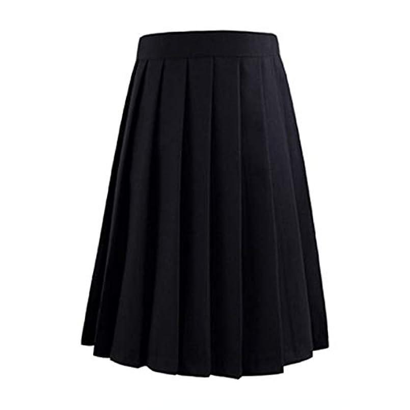 宗教的な海嶺定常XMSM レディースの夏のウエストプリーツPチェック柄は、女性のアニメ短いスカートスカート (色 : ブラック, サイズ : XXXL)