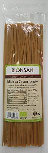 Bionsan Tallarines Ecológicas de Trigo integral con Cúrcuma Y Jengibre 250 g