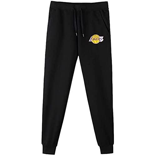 UIQB L.A.Akers Baloncesto Hombres Hombres Sweypants Pantalones Harlan Pantalones Pantalones Caída Sección Delgada Utilizada para Deportes, Fitness y Correr Negro (S-3XL) S