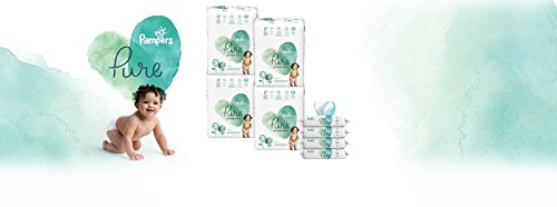 Diapers Size 5, 304 Count - Pampers Pure Protection Disposable Baby Diapers, Hypoallergenic and Fragrance Free with Aqua Pure 4X Pop-Top Sensitive Water Baby Wipes, 224 Count (Old Version)