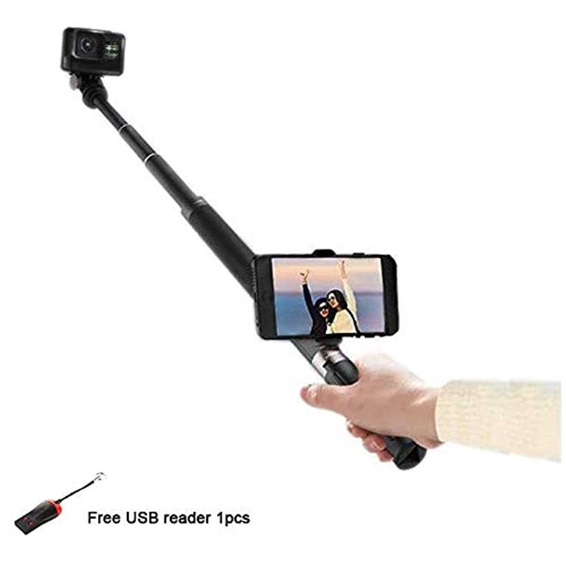 PGYTECH Hand Grip & Tripod Extension Pole for OSMO Action/OSMO Pocket/Gopro Series Action Cameras with Lucybird USB Reader