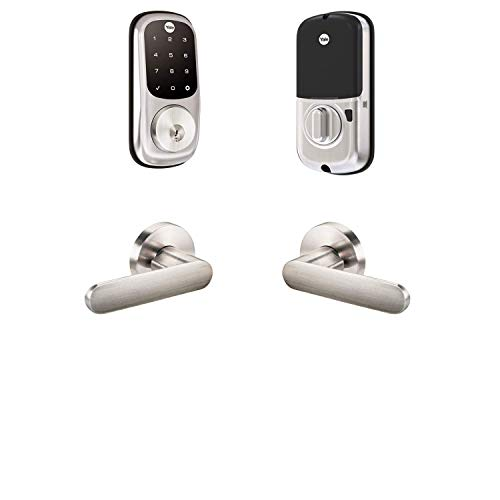 Yale Security B-YRD226-ZW-KC-619 Yale Assure Lock Z-Wave Kincaid Works with Ring Alarm, Smartthings, and Wink Smart Touchscreen Deadbolt with Matching Lever, Satin Nickel