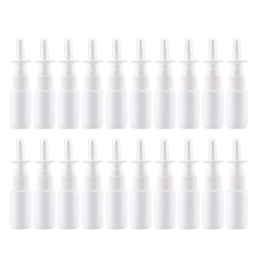 Artibetter 20 x Nasenspray-Flaschen, nachfüllbar, feiner Nebel, leere Nasen-Sprühflasche für Zuhause und im Freien, 10 ml, weiß (Weiß) - C533PTA6J4416O9