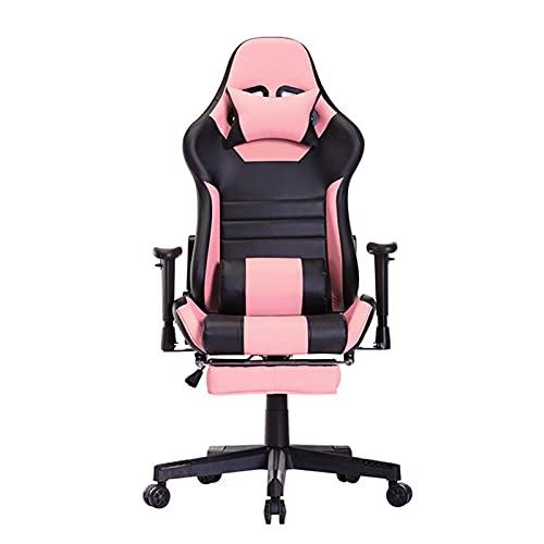HXJU - Sedia da scrivania da ufficio, design ergonomico, con supporto lombare e poggiatesta poggiapiedi per adulti e bambini
