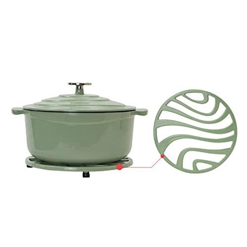 HDHUIXS Plato de cazuela de cerámica - Olla con Tapa de cúpula y cojín - Adecuado for Todos los Tipos de Calor - for la Cocina y la Cena Familiar (Color : Green)