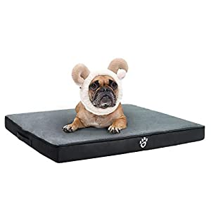 TR pet Orthopedic Dog Bed for Joint Pain Relief | Memory Foam Pet Dog Mattress XL/XXL/XXXL for Small, Medium, Large Dogs Crates | Washable Removable Cover | Faux Fur Sleeping Surface