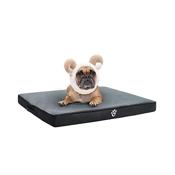 TR pet Orthopedic Dog Bed for Joint Pain Relief   Memory Foam Pet Dog Mattress XL/XXL/XXXL for Small, Medium, Large Dogs Crates   Washable Removable Cover   Faux Fur Sleeping Surface