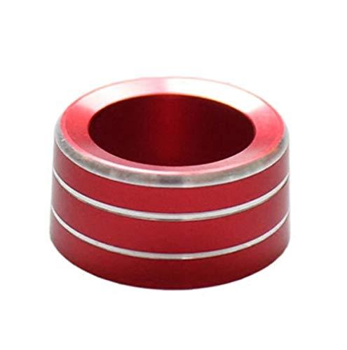LHSM para S-Mart 453 para F-ortwo para F-orfour Decoración Coche Espejo Retrovisor Perilla Anillo Ajuste Cubierta Coche Estilo Modificación Decoración Interiores (Color : Rojo)