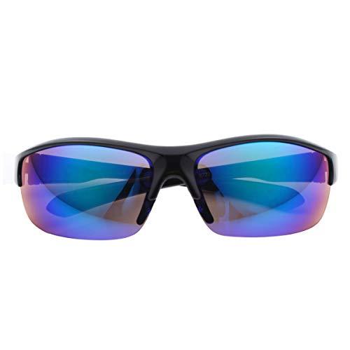 iiniim Gafas de Sol Deportivas para Unisex con Protección UV 400 Cuadradas Súper Liviana Marco para Hombre y Mujer para Correr Golf Beisbol Surf Conducción Esquiando Negro One Size
