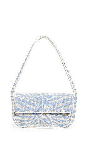 STAUD Women's Tommy Bag, Light Blue/Cream, One Size