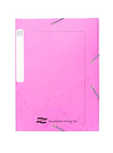 Exacompta Europa Elastische opbergdoos, A4, 25 mm rug, roze