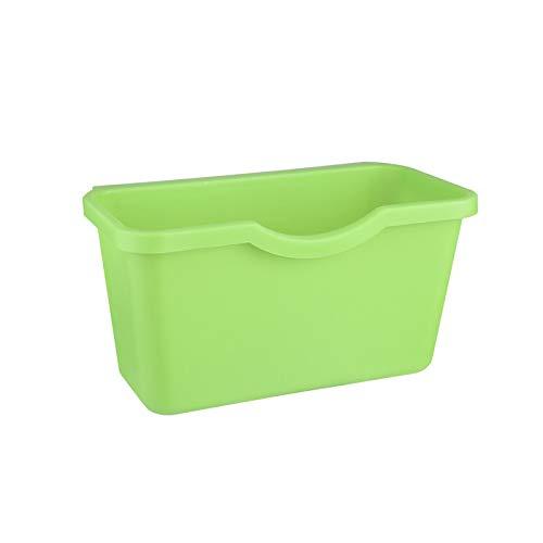LZQBD el Plastico Cesta Colgando Basura Lata,Almacenamiento Caja Basura Almacenamiento Escritorio Cocina Residuos Compartimiento,Poseedor Gabinete Puerta Basura Lata a/B / 21.5 * 13.5 * 12.5cm