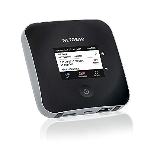 Netgear Nighthawk M2 Mobiler WLAN Router / 4G LTE Router MR2100 (bis zu 2 GBit/s Download-Geschwindigkeit, LTE Cat20 Hotspot für 20 Geräte, WiFi überall nutzen, für jede SIM-Karte freigeschaltet)