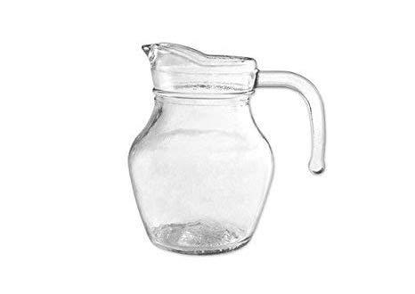 takestop® BROCCA Birra 0.25 LITRO in Vetro Trasparente CARAFFA con Manico per Acqua Vino SUCCHI Bevande