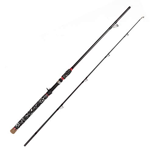 LurEra Catfish Casting Rod 2 Pieces Portable 7' Heavy Catfishing Rod