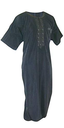 Desert Dress - Costume Homme Tunique Saoudien Pantalon Ensemble Thobe 2 Pièces - Blanc - 62 - Blanc, XXL