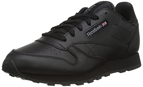 Reebok Unisex Kinder Classic Leather Traillaufschuhe, Schwarz (Black 1)34 EU