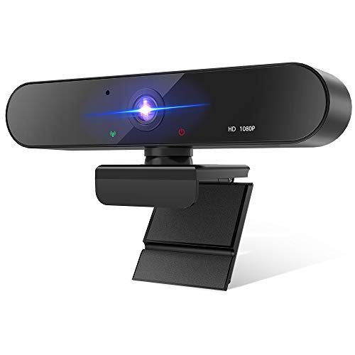 Webcam with Microphone 1080P for Desktop, BENGOO HD Web Cameras with Autofocus and AWB for Computer Laptop Streaming Online Class Conferencing, Compatible with Zoom Skype Facetime Teams