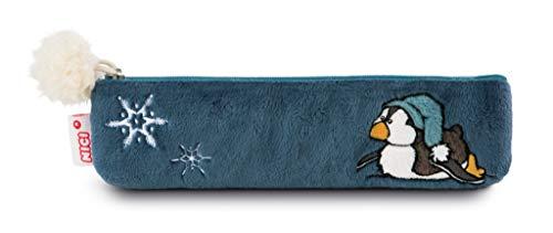 Nici 42049 Winter Stiftemäppchen Pinguin Toddytom, 19,5 x 5 cm, blau